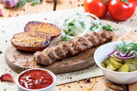 Комплекс Люля-кебаб из свинины с говядиной
