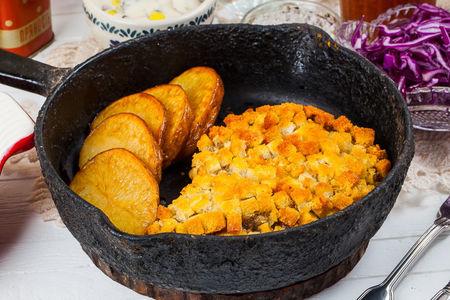Пожарская котлета с запеченным картофелем
