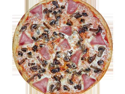 Пицца Грибная с ветчиной