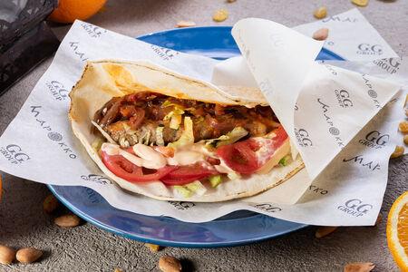 Кюфта-кебаб из курицы в пите по-мароккански