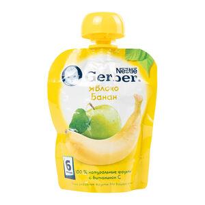 Gerber яблоко-банан с 6 месяцев