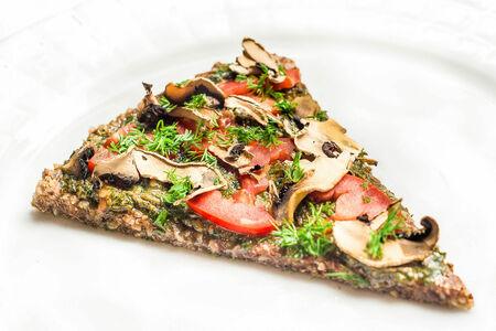 Пицца сыроедная с соусом Песто
