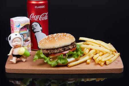 Комбо Хеппи Мил с бургером для девочек