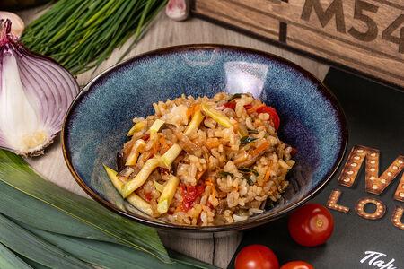 Вок с рисом и овощами