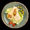Фото к позиции меню Сэндвич-ролл с тунцом на пшеничной лепешке