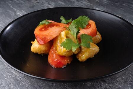 Салат с баклажанами и томатами