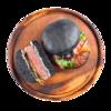 Фото к позиции меню Бургер черный