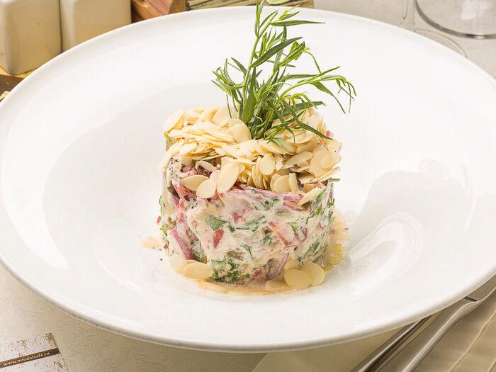 Салат из баклажанов с мацони