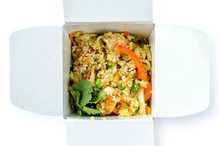 Рис с курицей и соусом карри