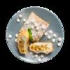 Фото к позиции меню Штрудель творожно-яблочный от шеф-пекаря Ав