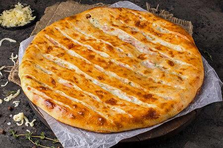 Русский пирог с ветчиной и сыром