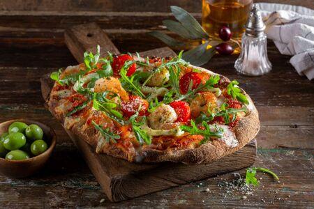 Пиццетта с морепродуктами