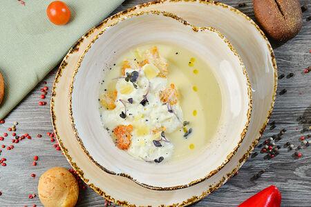 Суп-крем из печеного картофеля с ароматом трюфеля