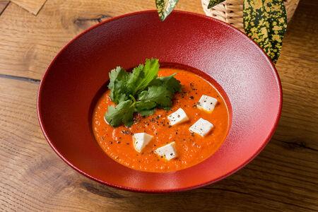 Крем-суп из копченых томатов