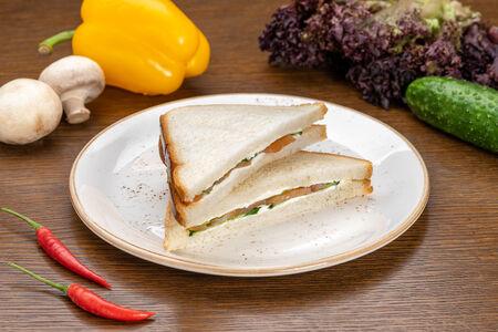 Сэндвич со сливочным сыром и сёмгой
