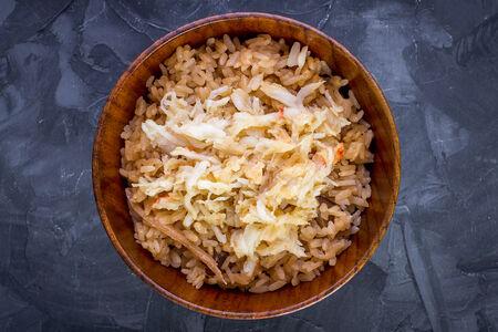 Рис с гребешком