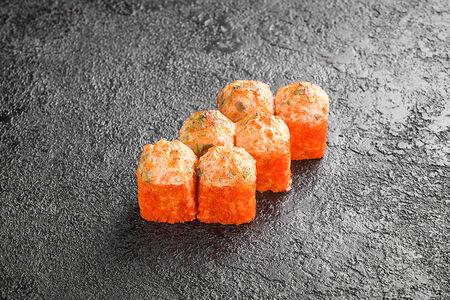 Запеченный ролл с креветками