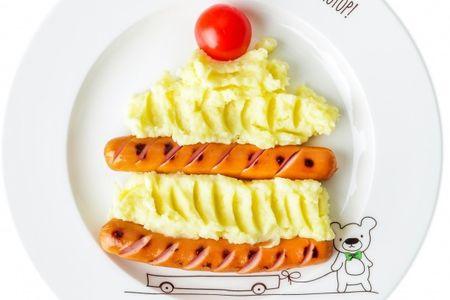 Тортик Картофельный с сосисками-гриль