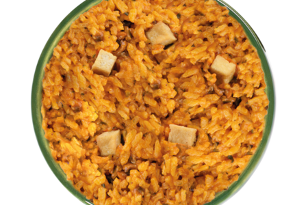 Ризотто с грибами и тофу