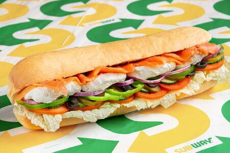 Сэндвич Лосось Крем-чиз большой