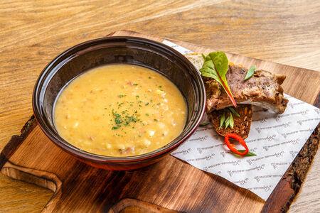 Суп Гороховый с копченными ребрышками