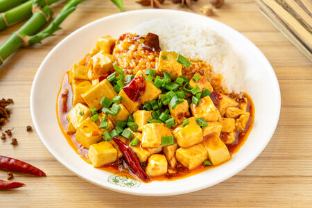 Мала тофу с рисом