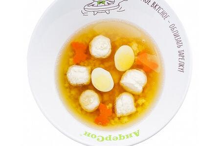 Суп с фрикадельками и звездочками