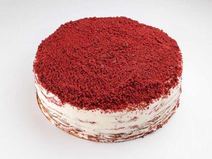 Красный бархат блинный торт