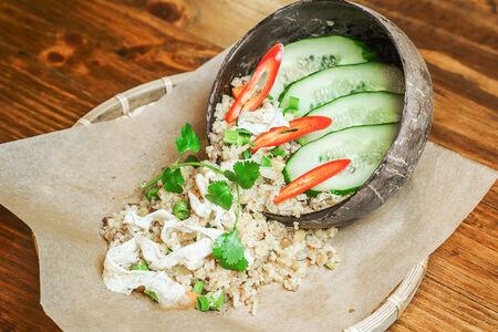 Жареный рис с говяжьим шате