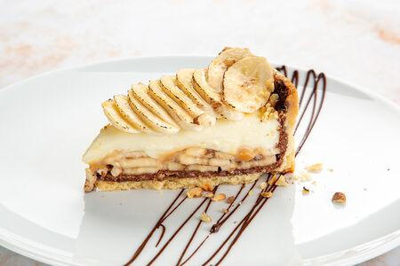 Десерт Банановый тарт с шоколадом