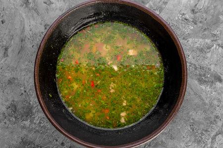 Наваристый суп из говядины с ароматными травами