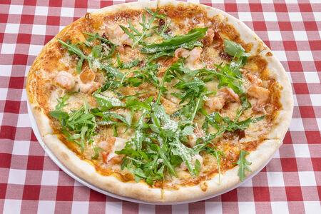 Пицца с креветками и вялеными томатами