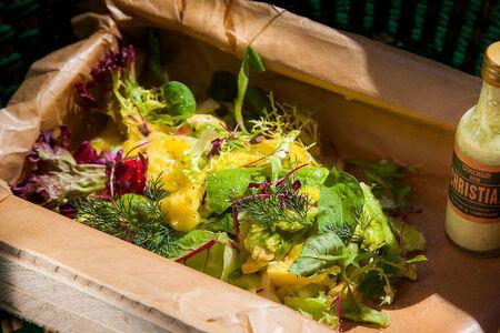 Ящик с битыми овощами