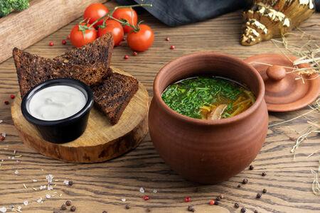 Суп Мамин грибной