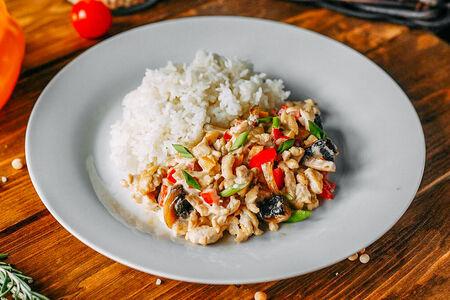 Куриное Фрикасе с рисом