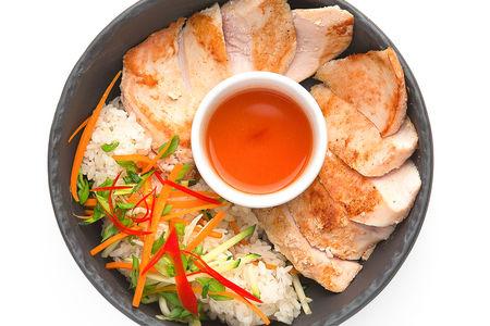 Куриная грудка гриль с рисом