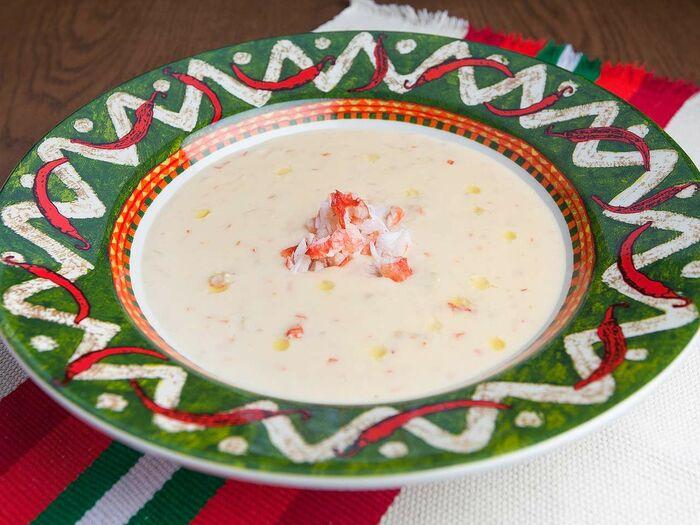 Фирменный крем-суп из камчатского краба