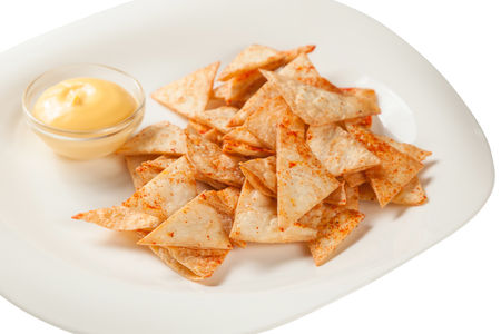 Крекерс с сырным соусом