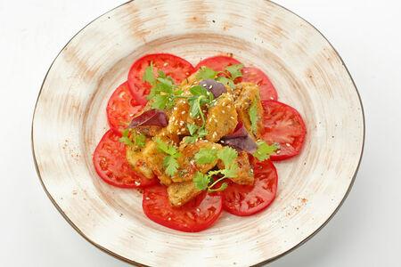 Салат Хрустящие баклажаны в чили соусе