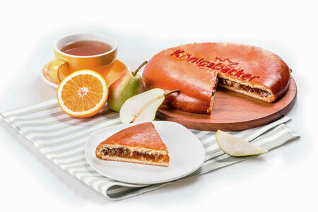 Пирог Груша-карамель