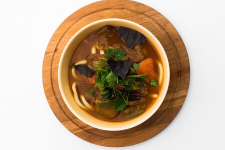 Суп Лагман с лапшой и овощами