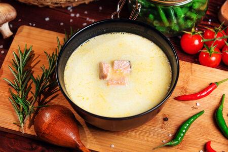Сливочный суп с сёмгой
