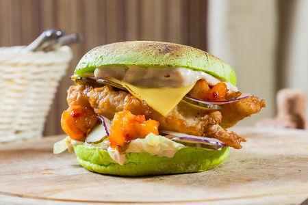 Бургер Fish с креветками