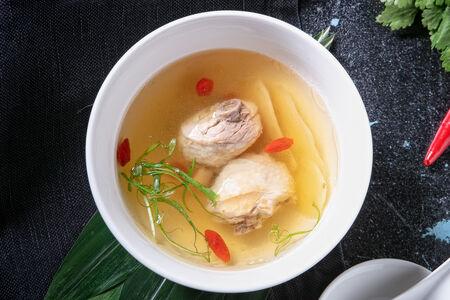 Суп куриный на пару