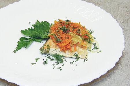Филе горбуши с овощами