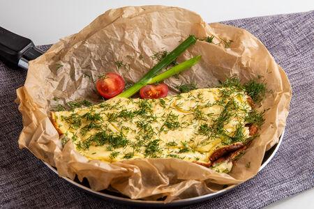 Омлет из трёх яиц с ветчиной и сыром