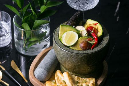 Гуакамоле с кукурузнымнаном