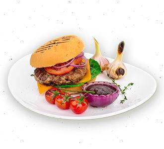 Бургер с котлетой из говядины Блэк-Ангус