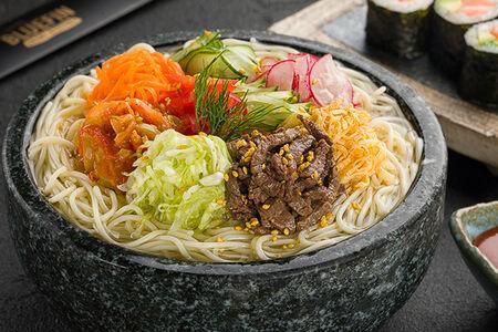 Суп Большая порция Кук-су с мраморной говядиной Блэк ангус