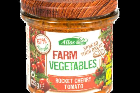 Паштет овощной Allos с рукколой и томатами черри